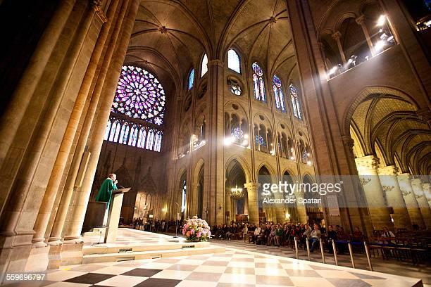 Mass in Notre Dame de Paris, Paris, France