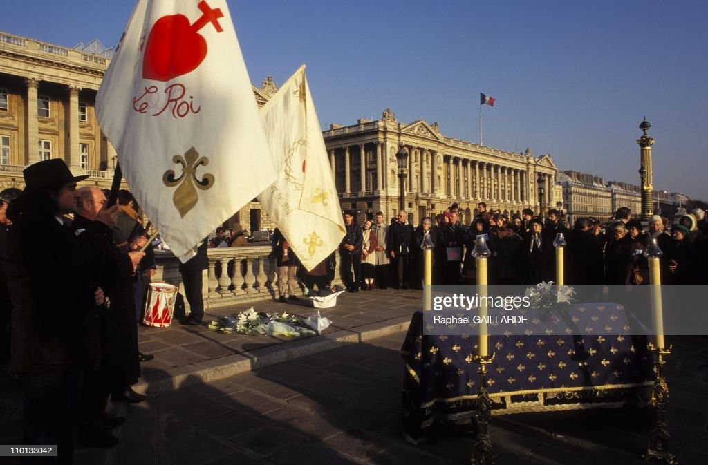 Mass in the death aniversary of Louis XVI in Concorde square in Paris, France on January 20, 1996.