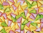 Mass of colored ice cream cones