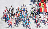Mass start during the IBU Biathlon World Cup Men's and Women's Mass Start on December 20 2015 in Pokljuka Slovenia