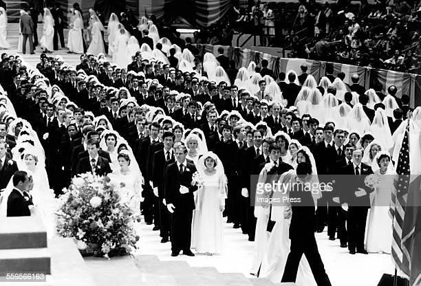 Mass Wedding at Madison Square Garden circa 1982 in New York City