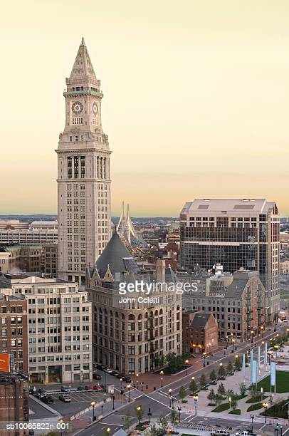 USA, Massachusetts, Boston, cityscape at dusk