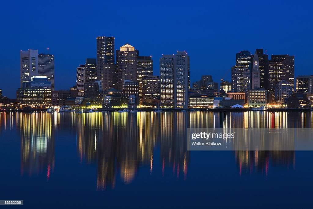 USA, Massachusetts, Boston, Financial District fro : Stock Photo