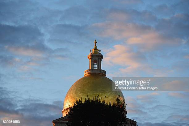 USA, Massachusetts, Boston, Gold dome of Massachusetts State House