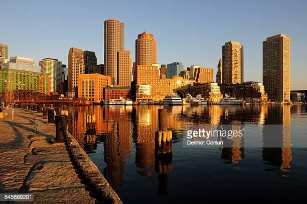 USA, Massachusetts, Boston, Waterfront from Fan pier in early morning light