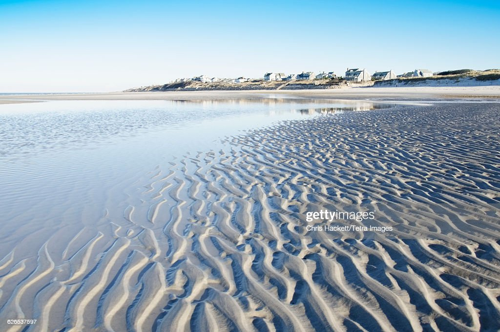 Cape Cod Low Tide Part - 39: USA, Massachusetts, Cape Cod, Beach At Low Tide With Rippled Sand : Stock