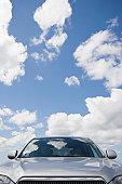 USA, Massachusetts, Car with sky