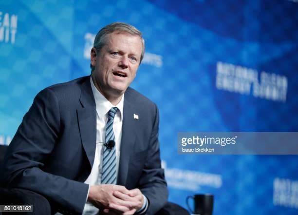 Massachusetts Governor Charlie Baker speaks during the National Clean Energy Summit 90 on October 13 2017 in Las Vegas Nevada
