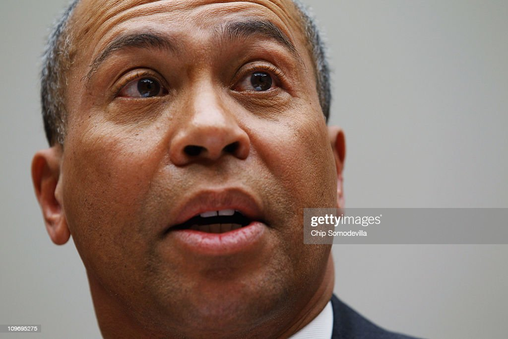 Massachusetts Governor <a gi-track='captionPersonalityLinkClicked' href=/galleries/search?phrase=Deval+Patrick&family=editorial&specificpeople=3980449 ng-click='$event.stopPropagation()'>Deval Patrick</a> testifies before the House Energy Committee about the impact of the health care reform act on states during a hearing on Capitol Hill March 1, 2011 in Washington, DC. Under the leadership of potential GOP presidential hopeful Mitt Romney, Massachusetts began a universal health care program for all residents in 2006.