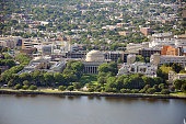 Aerial view of Massachusetts Institute of Technology (MIT), Cambridge, Massachusetts, USA