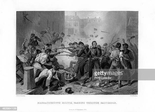 Massachusetts militia passing through Baltimore 1861 Baltimore is the capital of the state of Maryland Although a slave state Maryland did not secede...