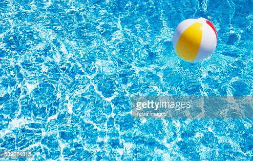 USA, Massachusetts, Nantucket, Beach ball in swimming pool