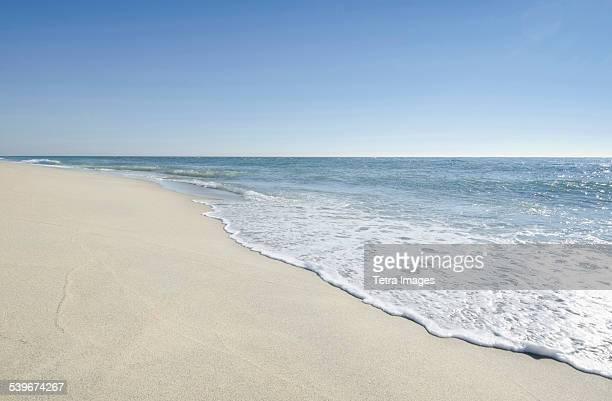 USA, Massachusetts, Nantucket, Beach with blue sky