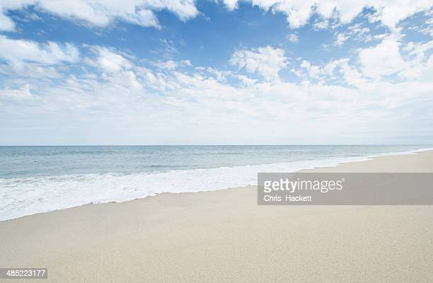 USA, Massachusetts, Nantucket, Empty sandy beach