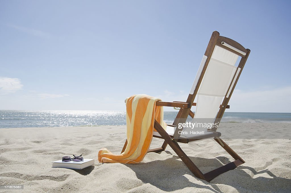 Usa Massachusetts Nantucket Island Sun Chair On Sandy