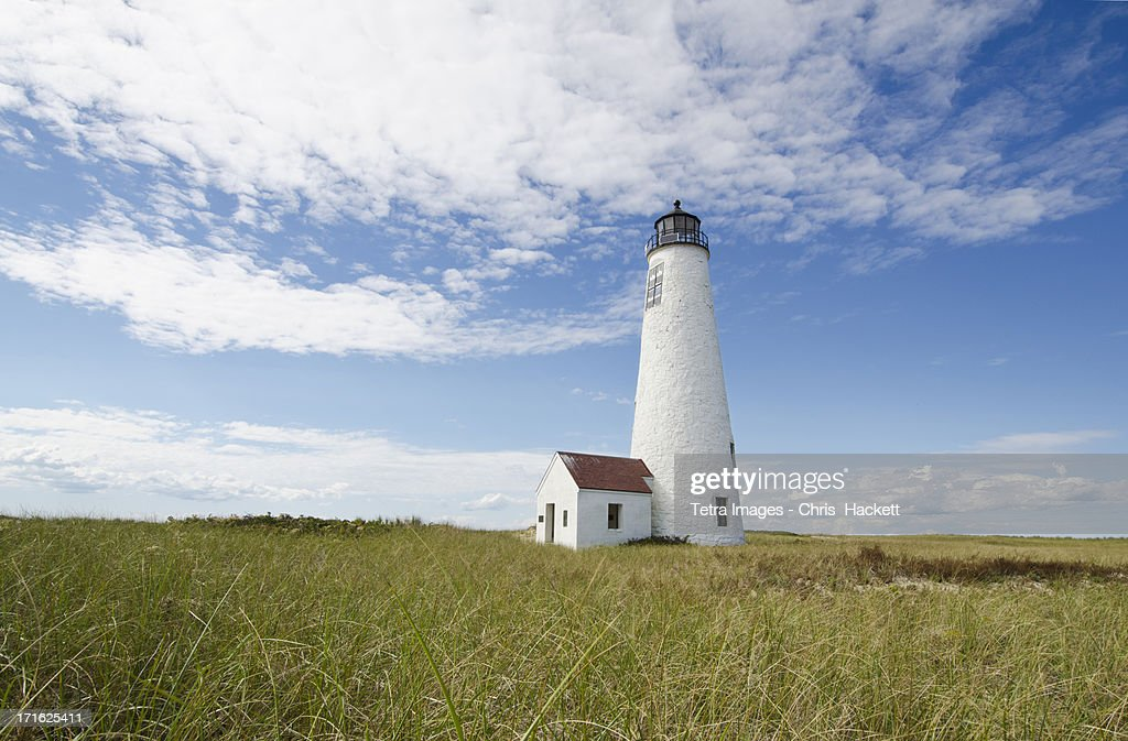 USA, Massachusetts, Nantucket Island, View of Great Point lighthouse