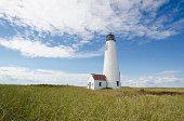 USA, Massachusetts, Nantucket Island, View of Great Point lighthouse