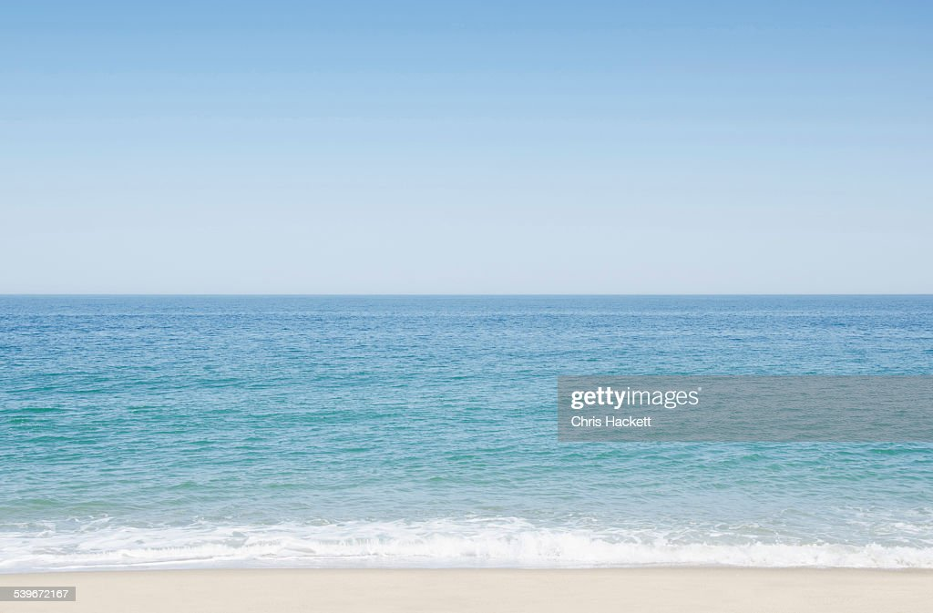 USA, Massachusetts, Nantucket, Seascape with surf on sandy beach : Stock Photo