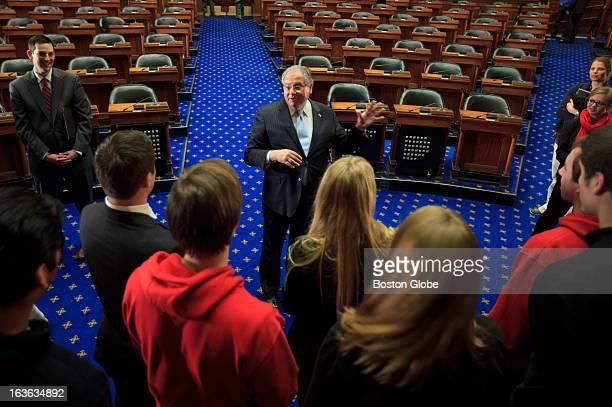 Massachusetts Speaker of the House Robert DeLeo met with students from Northeastern University during a lobbying event organized by the Association...