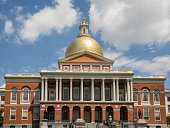 Massachusetts State House on Boston Freedom Trail USA
