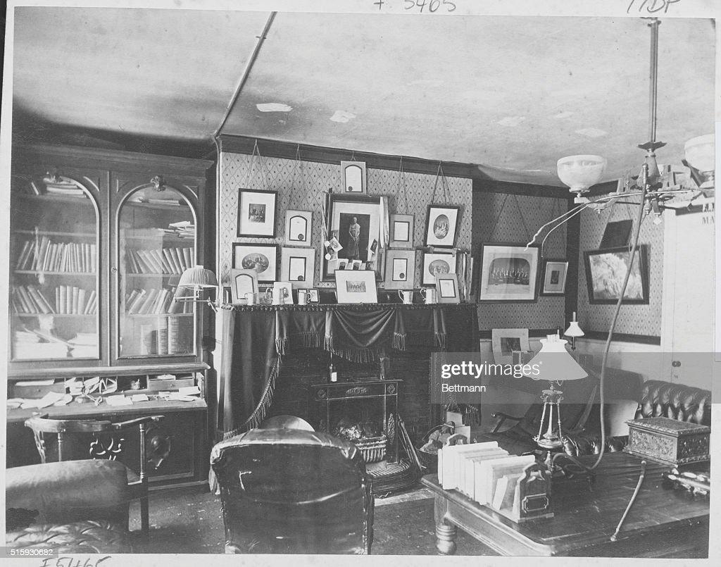 Student Room In Harvard Dormitory, 1870s. Part 70