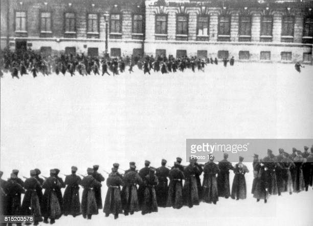 Massacre in St petersberg in front of the Winter Palace 1905