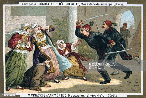 Massacres of Heraklion 1895 Eurocentric portrayal of historical events scene from the Massacres of Armenia card series produced by the chocolate...