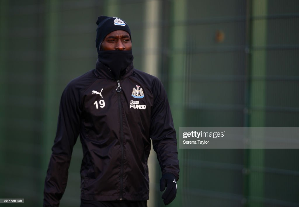 Massadio Haidara during a Newcastle United training session at the Newcastle United Training Centre on December 7, 2017, in Newcastle upon Tyne, England.