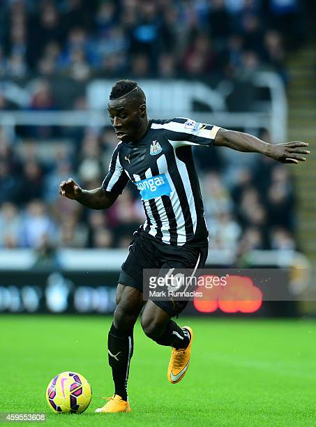 Massadio Haidara of Newcastle in action during the Barclays Premier League match between Newcastle United and Queens Park Rangers at St James Park on...