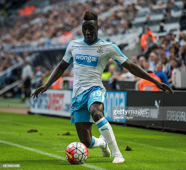Massadio Haidara of Newcastle keeps the ball in play during the Pre Season Friendly between Newcastle United and Borussia Monchengladbach at StJames...