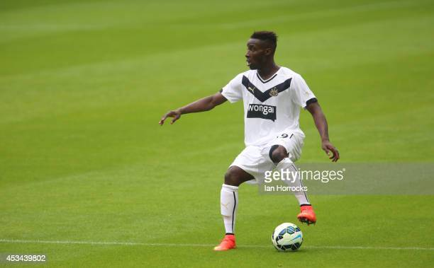 Massadio Haidara of Newcastle United in action during a preseason friendly match between Newcastle United and Real Sociedad at St James' Park on...