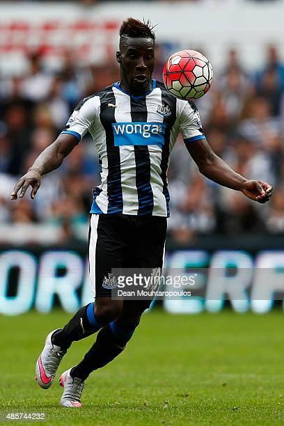 Massadio Haidara of Newcastle United in action during the Barclays Premier League match between Newcastle United and Arsenal at St James' Park on...