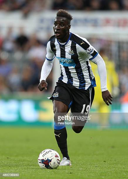 Massadio Haidara of Newcastle United in action during the Capital One Cup Second Round between Newcastle United and Northampton Town at St James'...