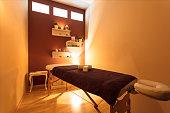 Massage room at wellness centre