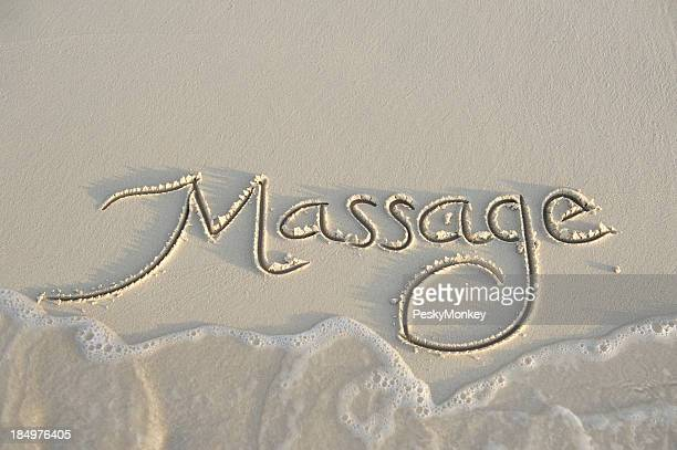 Massage Message Handwritten in Smooth Sand