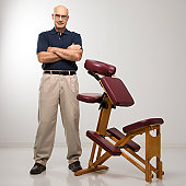 Massage therapist with massage chair