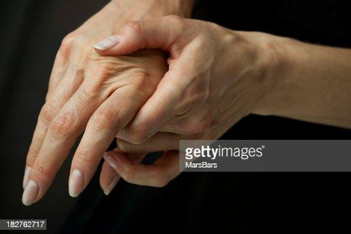 Massaging arthritic hands