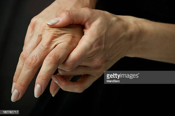 Massaging arthritic hands
