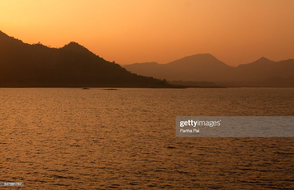 Massangore Dam,Jharkhand,India at evening time