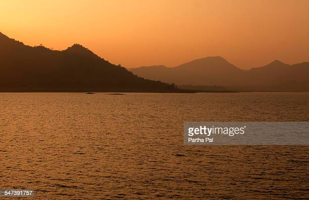 Massangore Dam,Jharkhand,India at evening time