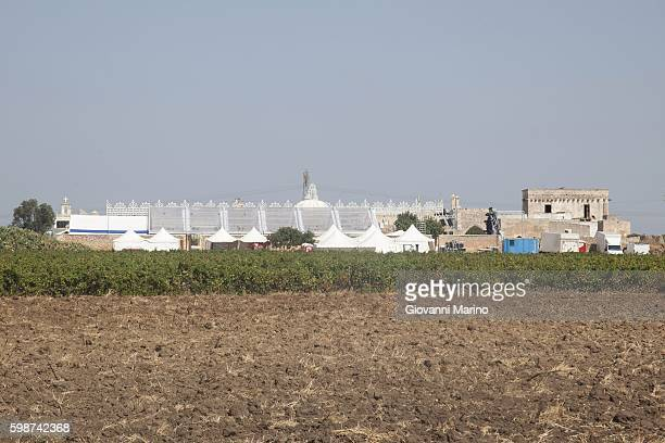 Masseria Mea where Cristel Carrisi and Davor will celebrate their wedding on September 3 taken on September 2 2016 in Cellino San Marco Italy