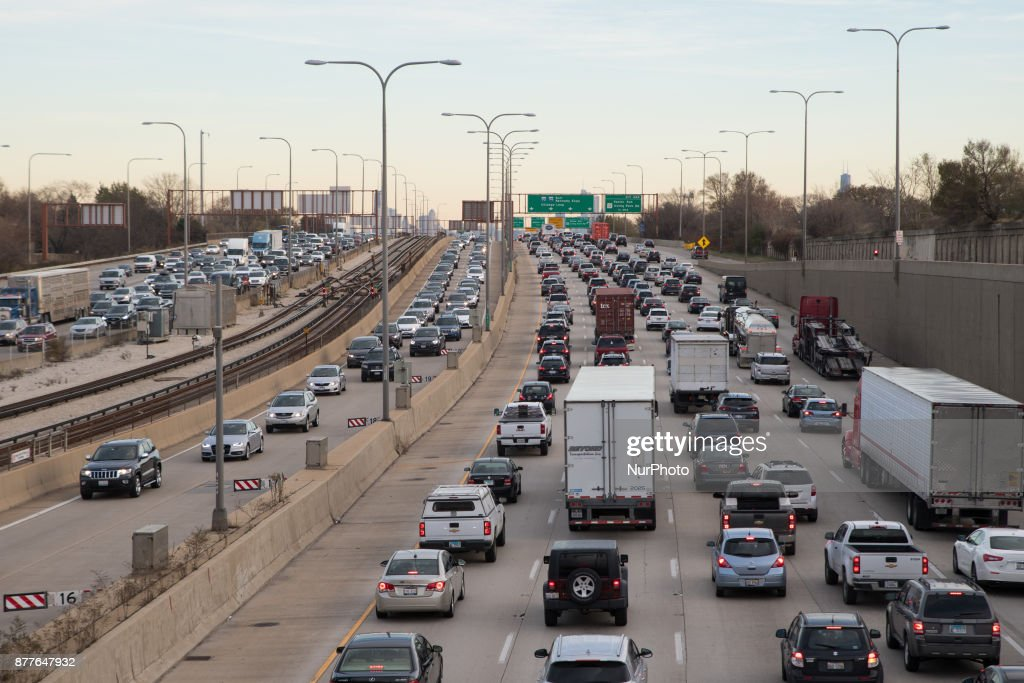 Traffic jam in Chicago