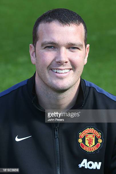 Masseur Rod Thornley of Manchester United poses at the annual club photocall at Old Trafford on September 26 2013 in Manchester England
