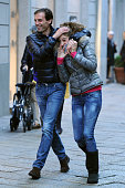 Massimiliano Allegri and his daughter Valentina Allegri are seen on November 8 2012 in Milan Italy