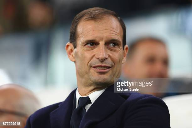 Massimiliano Allegri Coach of Juventus looks on prior to the UEFA Champions League group D match between Juventus and FC Barcelona at Allianz Stadium...