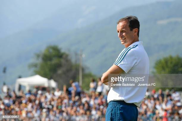 Massimiliano Allegri during the preseason friendly match between Juventus A and Juventus B on August 17 2017 in Villar Perosa Italy