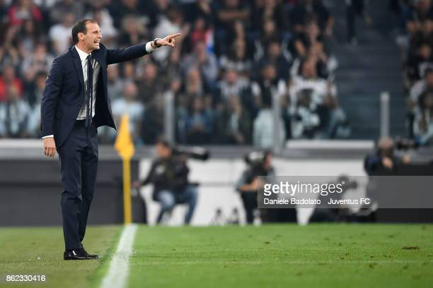 Massimiliano Allegri during the Serie A match between Juventus and SS Lazio on October 14 2017 in Turin Italy