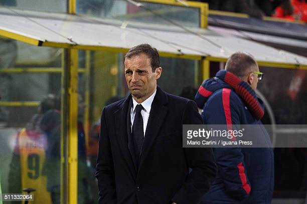 Massimiliano Allegri head coach of Bologna FC looks on before the beginning of the Serie A match between Bologna FC and Juventus FC at Stadio Renato...