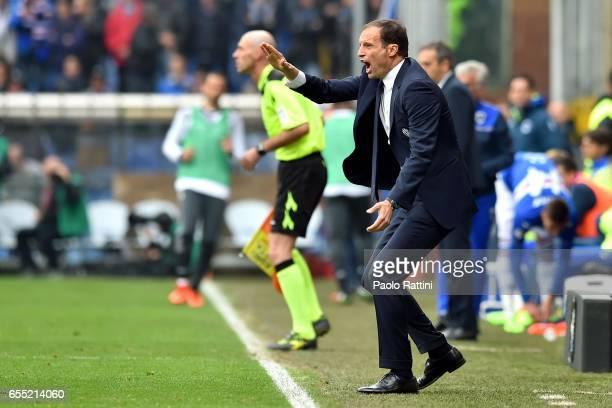 Massimiliano Allegri head coach of Juventus during the Serie A match between UC Sampdoria and Juventus FC at Stadio Luigi Ferraris on March 19 2017...