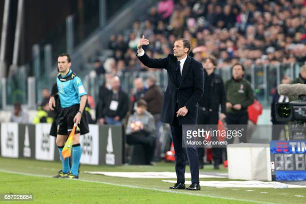 Massimiliano Allegri head coach of Juventus Fc during the Serie A football match between Juventus FC and Ac Milan at Juventus Stadium Juventus FC...